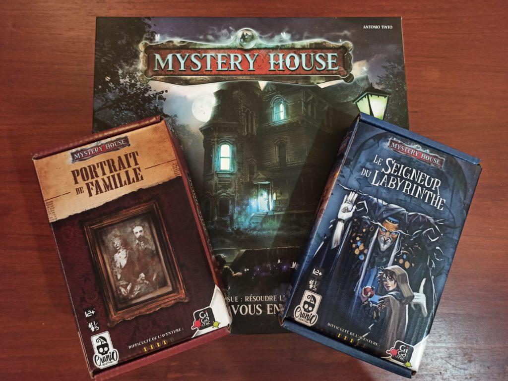Mystery House - Les deux boites de jeux