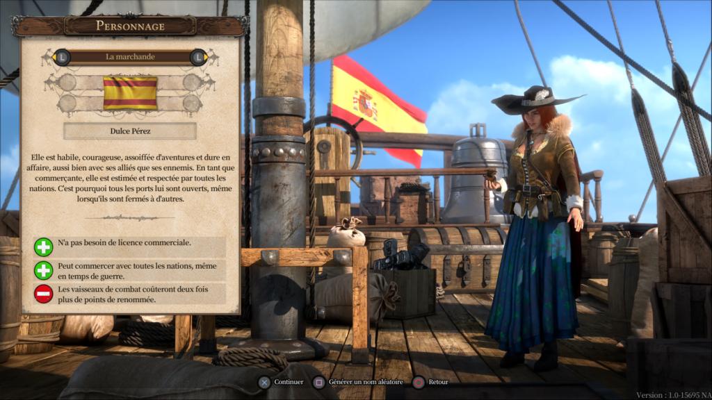Port Royale 4 - Choix du personnage