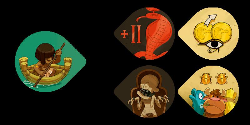Sobek - Les jetons pirogue